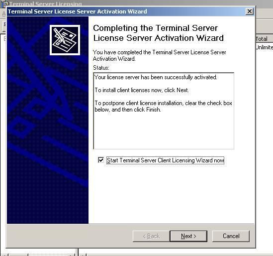Активация сервера терминалов (Terminal Services) в Windows Server 2000/2003
